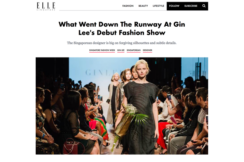 ELLE Singapore: What Went Down The Runway At Gin Lee's Debut Fashion Show