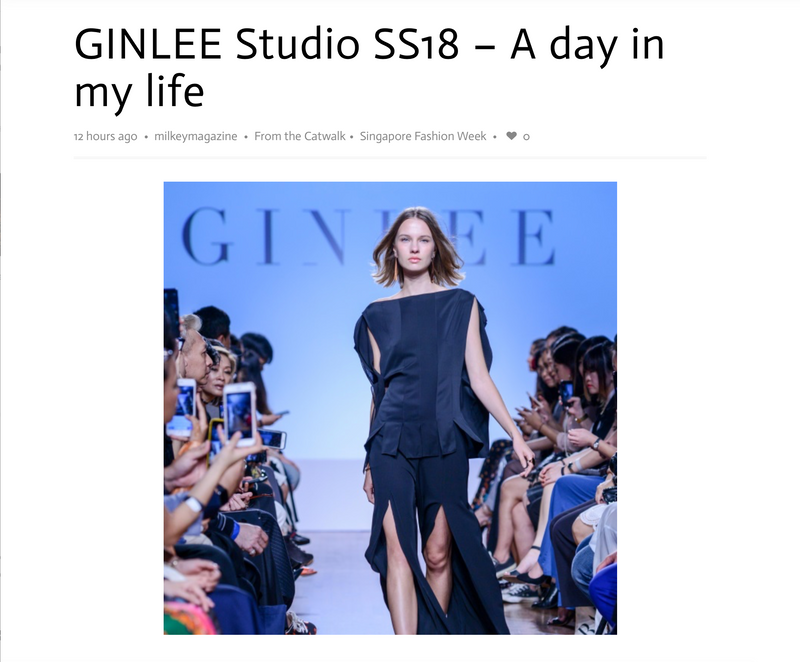 milky magazine: GINLEE Studio SS18 - A day in my life