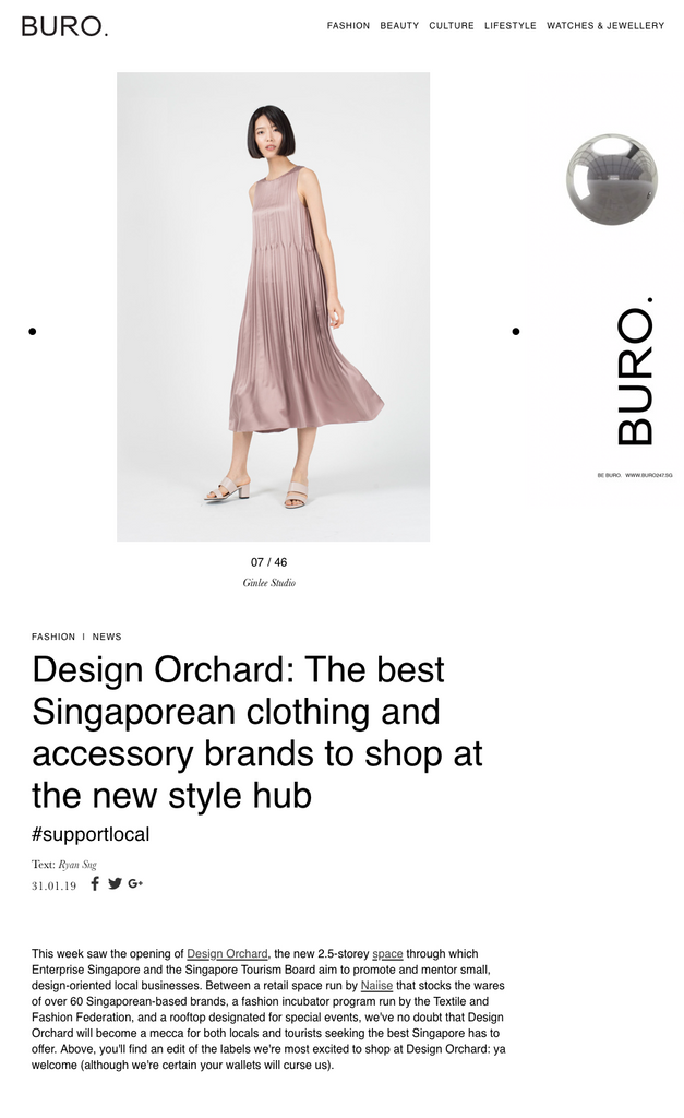 Buro 24/7: Design Orchard: The best Singaporean clothing and accessory brands to shop at the new style hub
