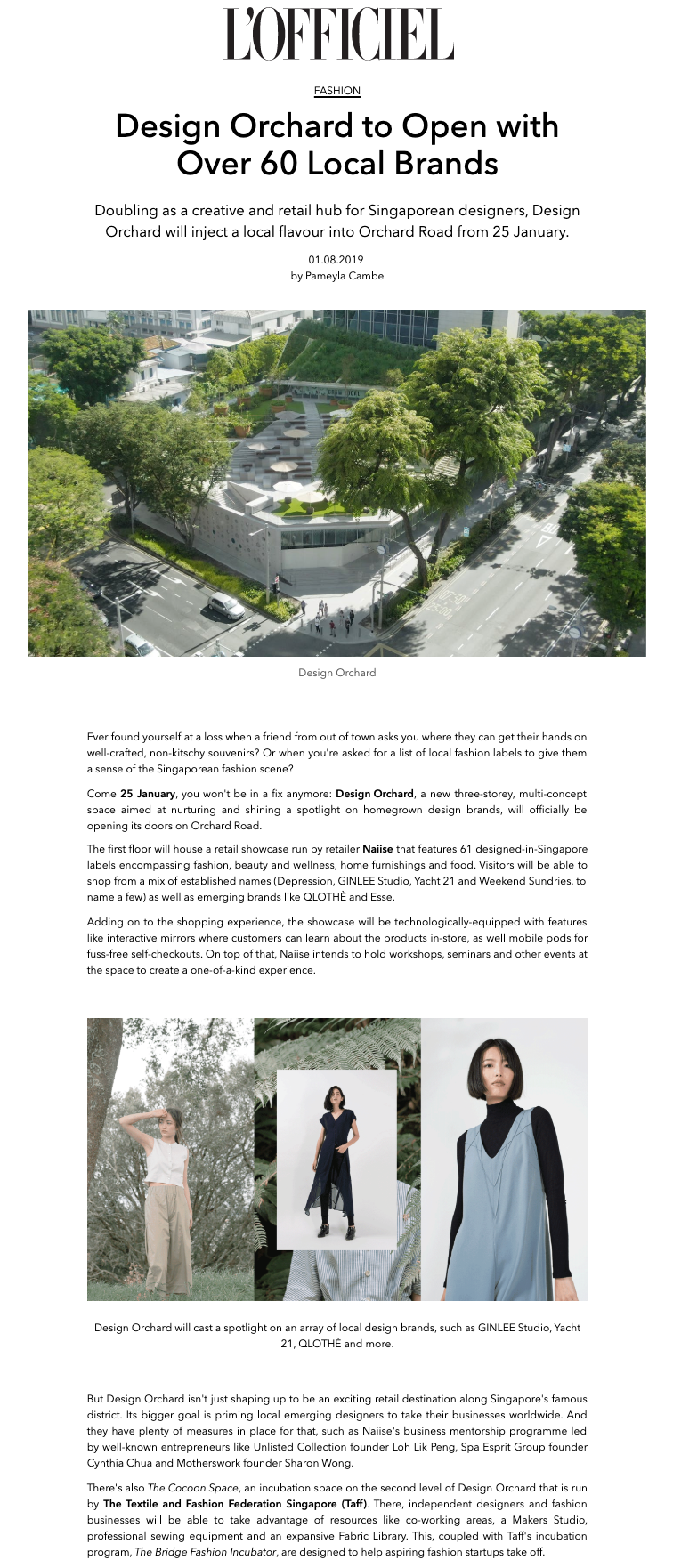 L'OFFICIEL: Design Orchard to Open with Over 60 Local Brands