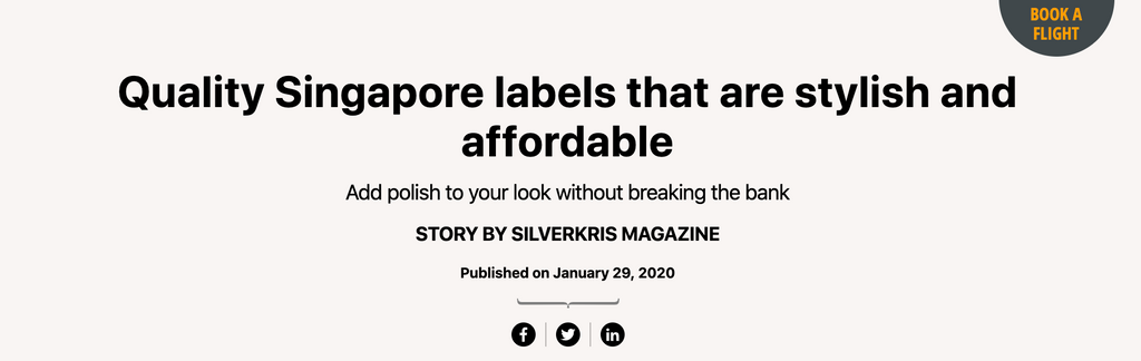 SilverKris Magazine | Quality Singapore labels that are stylish and affordable