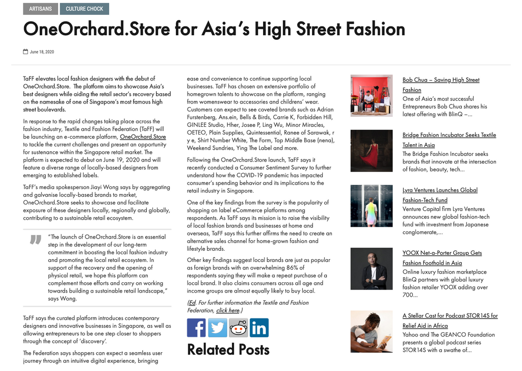 Indvstrvs | OneOrchard.Store for Asia's High Street Fashion