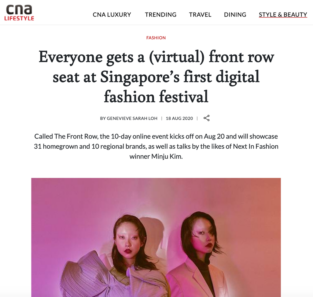 CNA Lifestyle | Everyone gets a (virtual) front row seat at Singapore's first digital fashion festival
