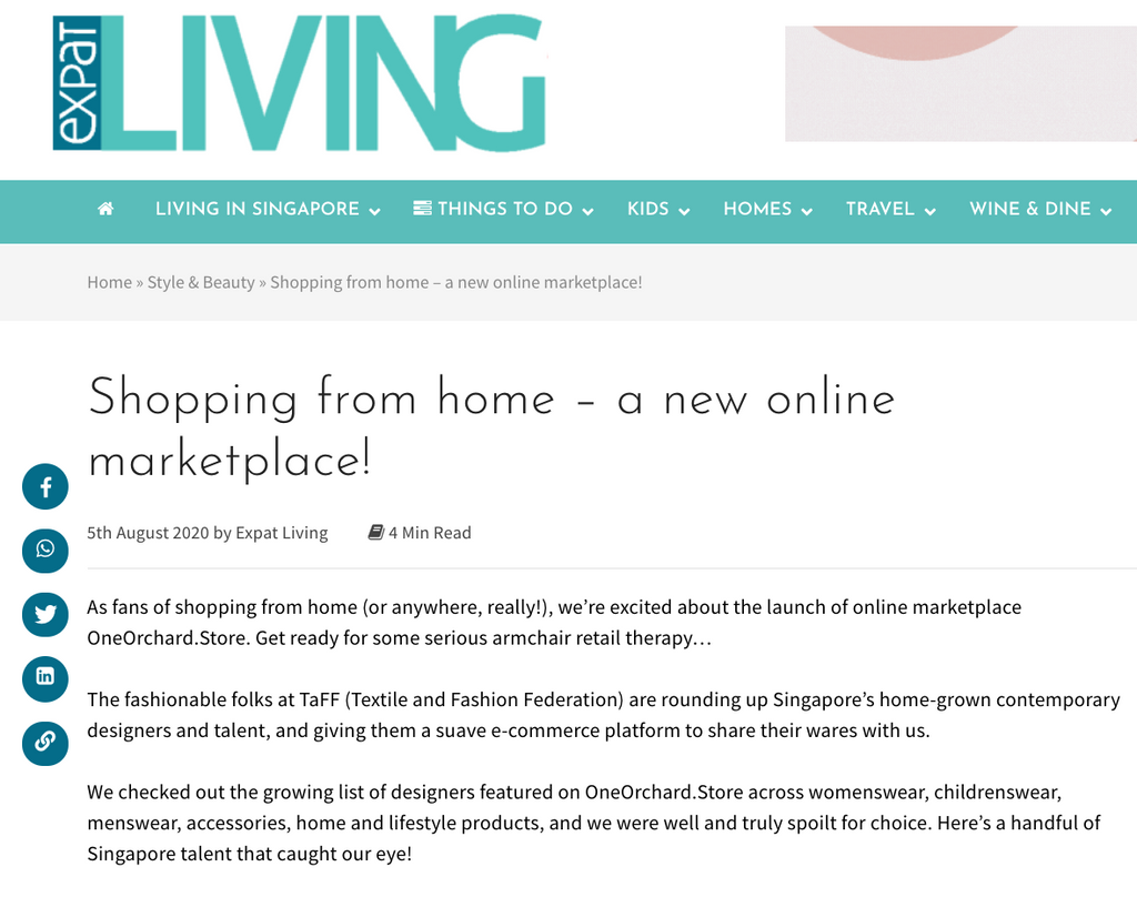 ExpatLiving | Shopping from home – a new online marketplace!