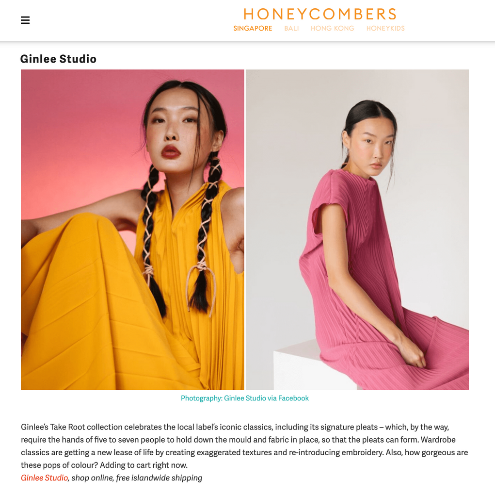 Honeycombers | Heading out post-CB? Dress your best with new collections from these local labels
