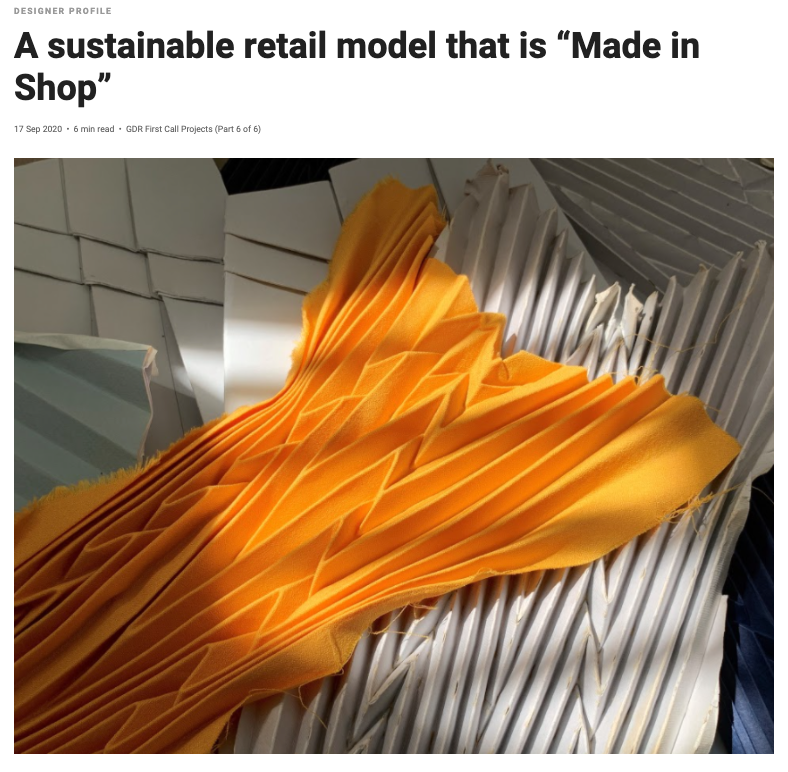 "Design Singapore | A sustainable retail model that is ""Made in Shop"""