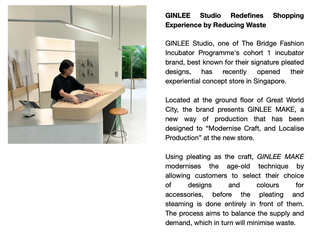 TaFF | GINLEE Studio Redefines Shopping Experience by Reducing Waste