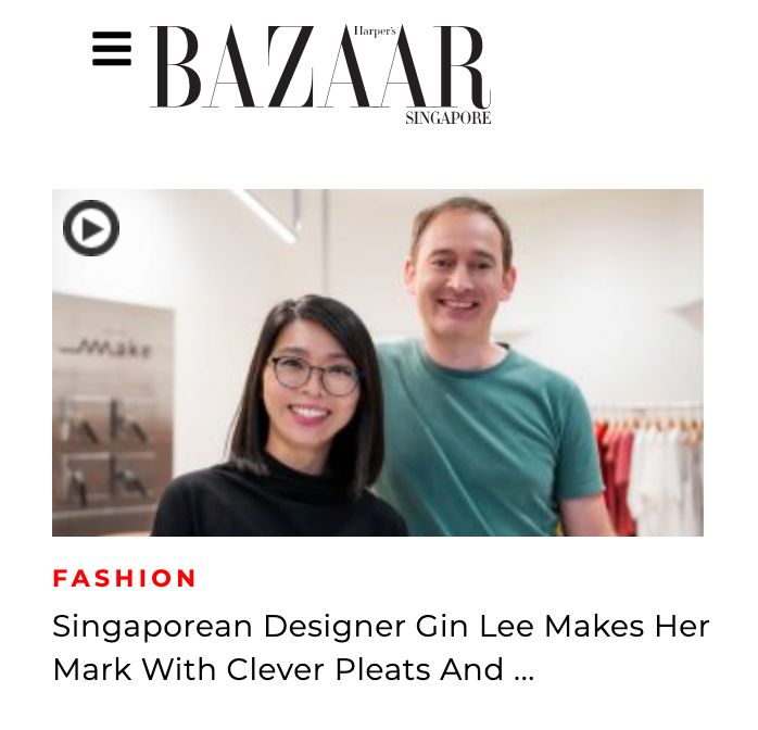Harper's BAZAAR | Singaporean Designer Gin Lee Makes Her Mark With Clever Pleats And A Passion To Make Fashion Sustainable