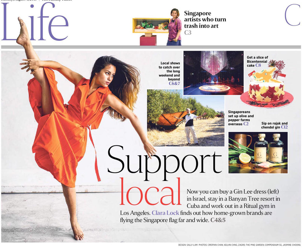 StraitsTimes: Singapore brands go global: Independent fashion label Gin Lee styles women from Israel to Singapore