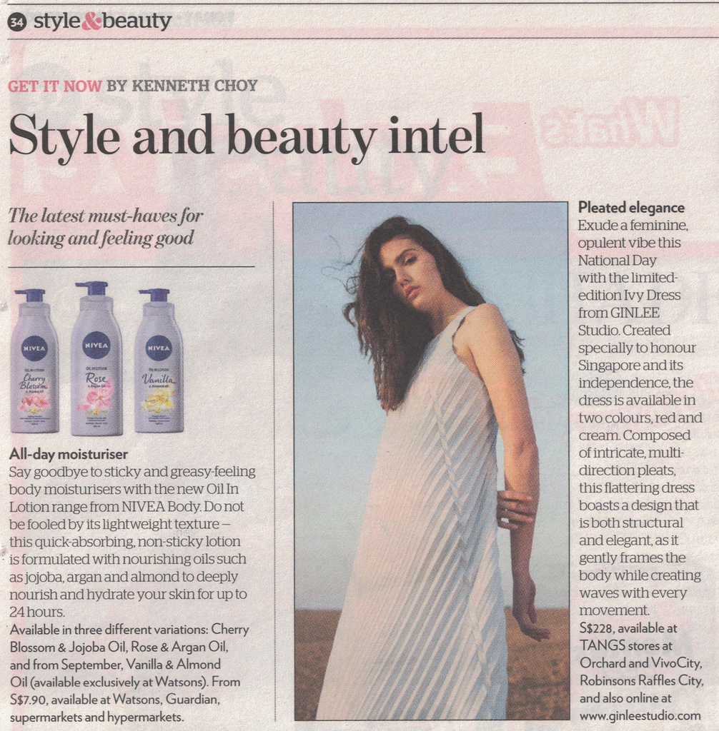 TODAY PAPER SINGAPORE: Style and Beauty Intel