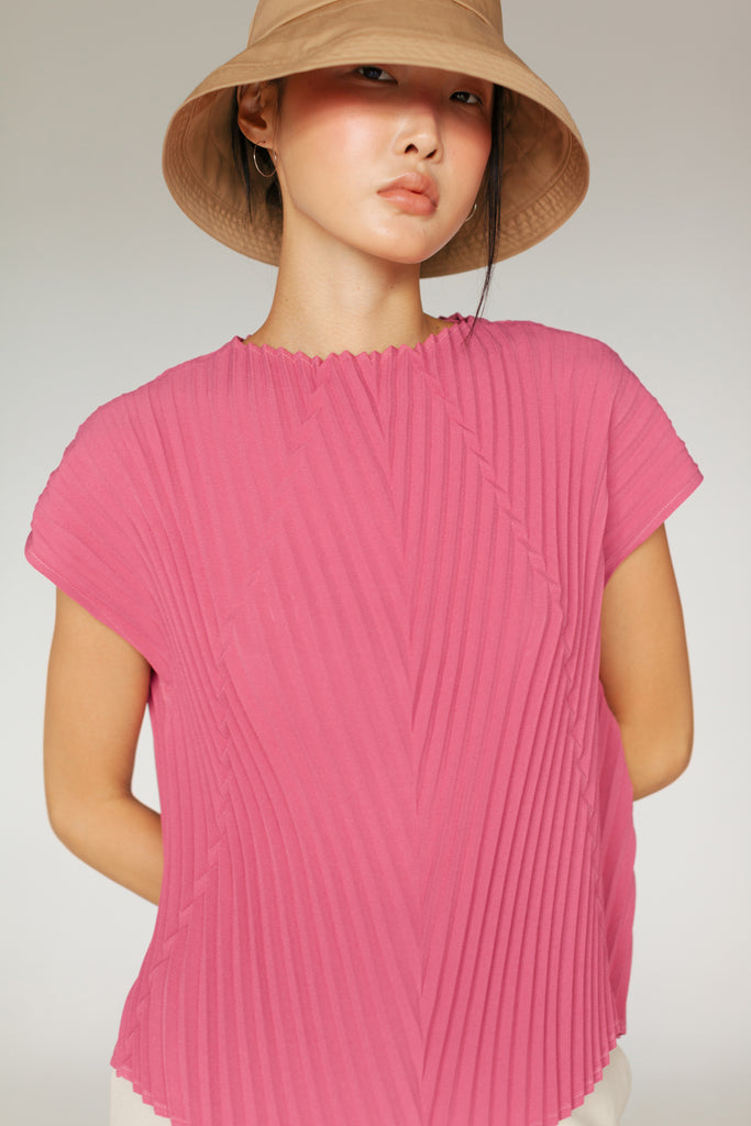 ABI PLEATED TOP