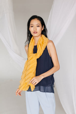 PLEATED YVE SCARF