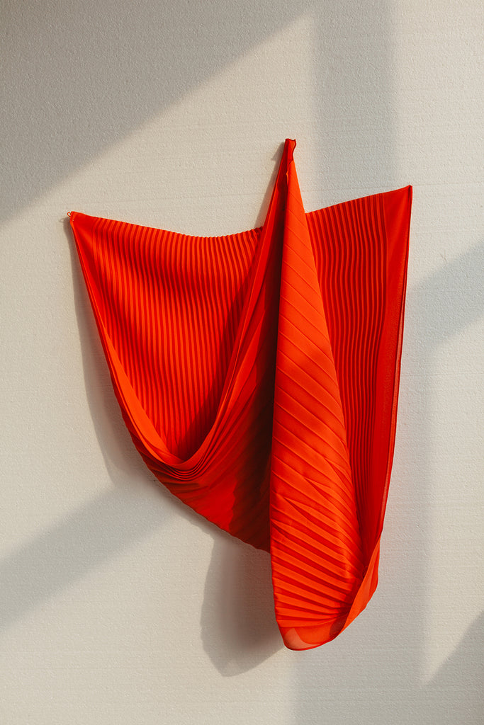 VIV PLEATED SCARF