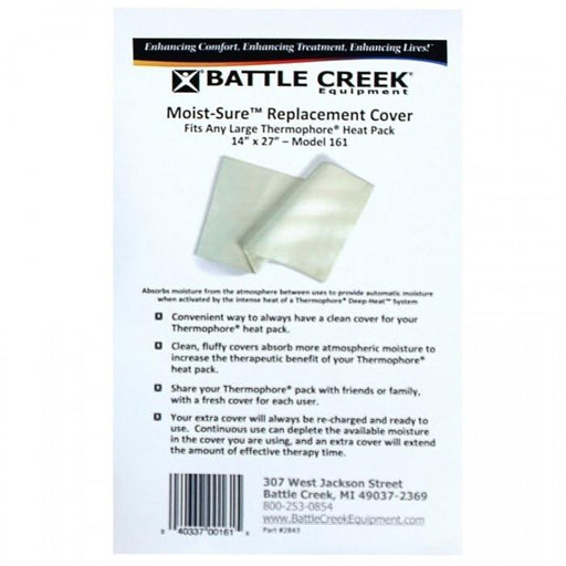 "Battle Creek Heat Therapy 14"" X 27"" Thermophore Moist-Sure Fleece Cover"