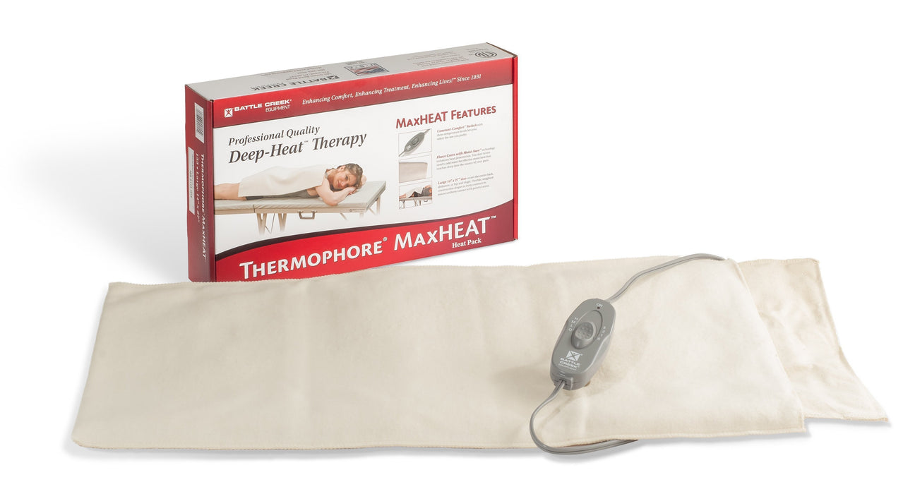 "Battle Creek Heating Pads Thermophore MaxHeat Moist Heating Pad (Model 155) 14"" x 27"""