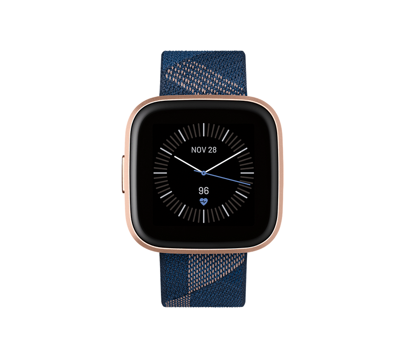 Fitbit Activity Monitors Navy Pink Woven Special Edition Fitbit Versa 2 Health and Fitness Smartwatch