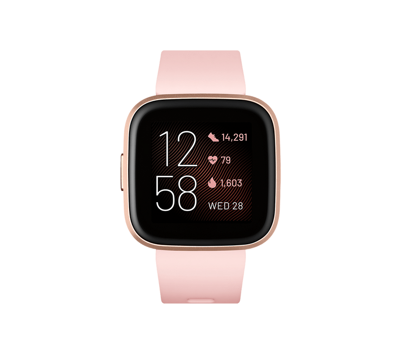 Fitbit Activity Monitors Petal Copper Rose Fitbit Versa 2 Health and Fitness Smartwatch