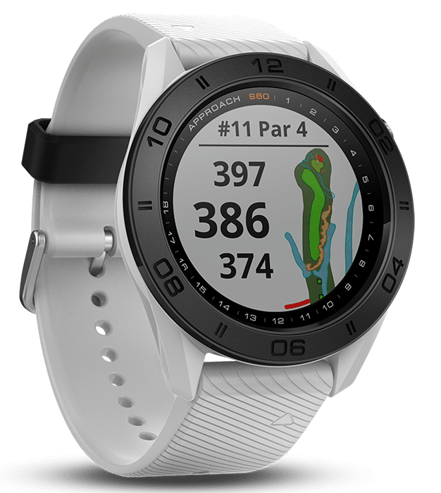 Garmin Golf White with White Band Garmin Approach S60