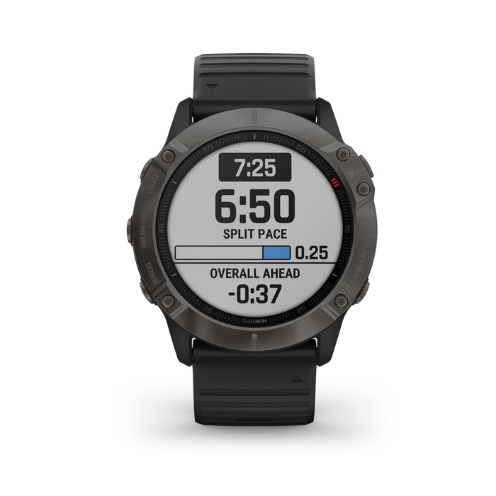 Garmin Multi-Sport Watch Carbon Gray DLC with Black Band / Sapphire Garmin fēnix 6X Pro and fēnix 6X Sapphire