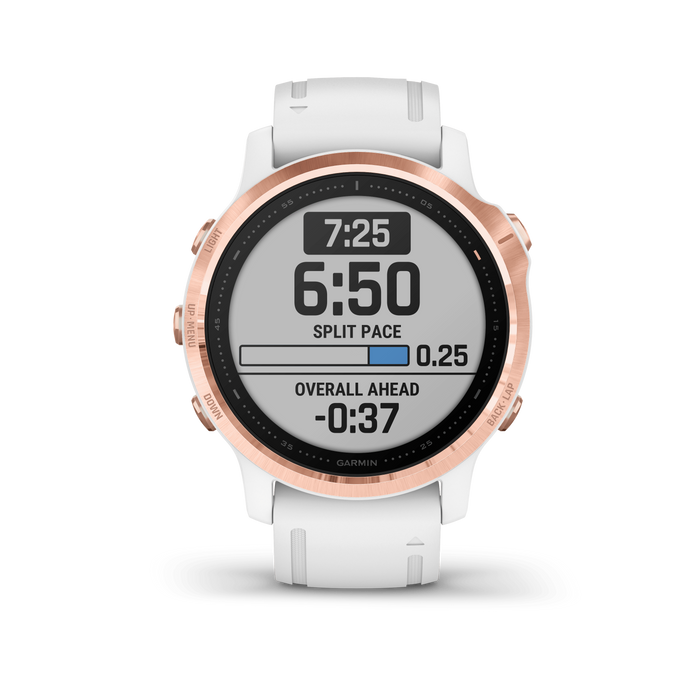 Garmin Multi-Sport Watch Rose Gold-tone with White Band / Pro Garmin fēnix 6S Pro and fēnix 6S Sapphire