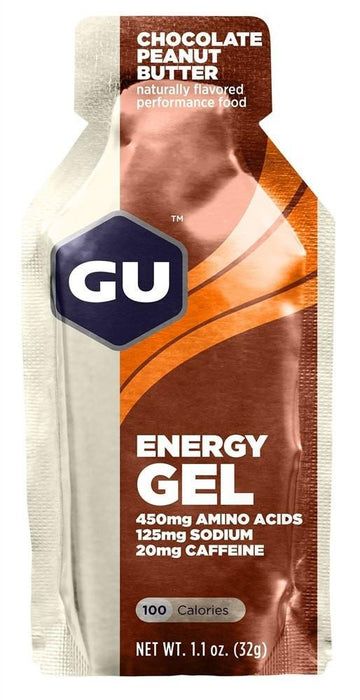 GU Sports Nutrition Chocolate Peanut Butter / 24 Count Box GU Original Sports Nutrition Energy Gel - Various Flavors