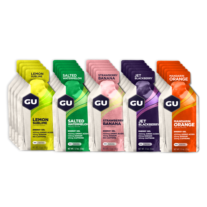GU Sports Nutrition Fruity Mixed / 24 Count Box GU Original Sports Nutrition Energy Gel - Various Flavors