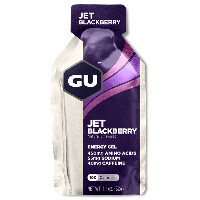 GU Sports Nutrition Jet Blackberry / 24 Count Box GU Original Sports Nutrition Energy Gel - Various Flavors