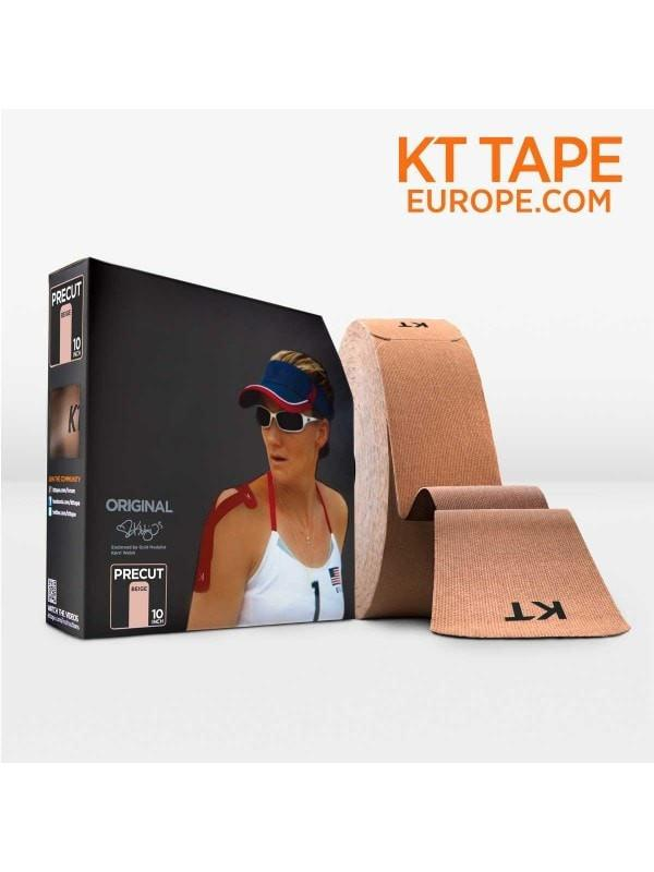 KT Tape Sports Therapy Beige / Pre-cut 10 inch strips KT Tape Cotton Jumbo Roll (125 feet)