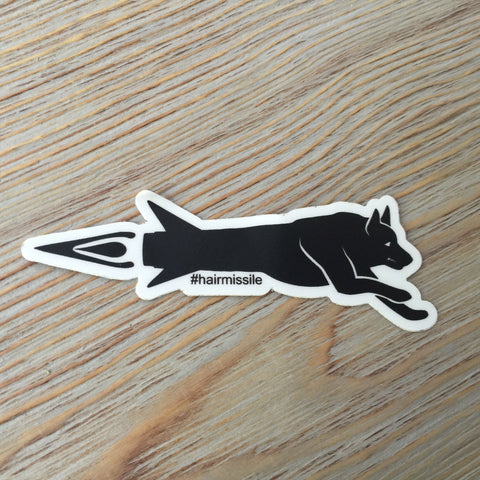 Spike's K9 Fund Hair Missile Sticker - Small