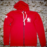 Spike's K9 Fund Logo Full Zip Hoodie - Red