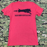Spike's K9 Fund Hair Missile Shirt - Red