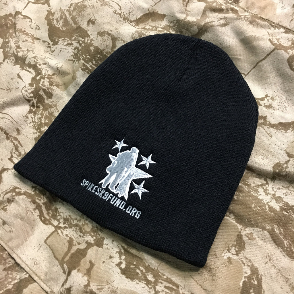 Spike's K9 Fund Knit Beanie - Black