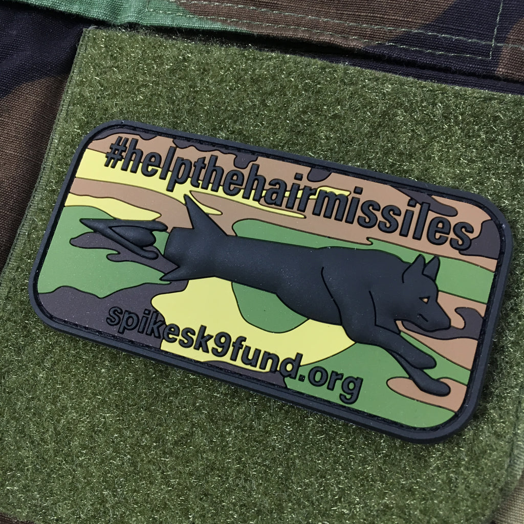 Spike's K9 Fund #helpthehairmissiles PVC Patch - Woodland