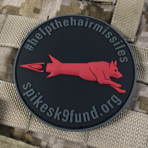 Spike's K9 Fund #helpthehairmissiles PVC Patch - Black