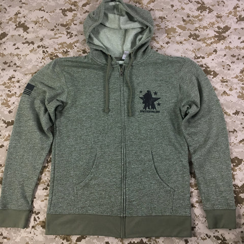 Spike's K9 Fund Logo Full Zip Hoodie