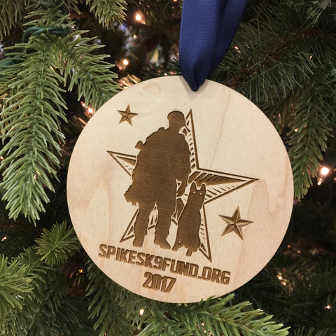 Spike's K9 Fund 2017 Christmas Ornament
