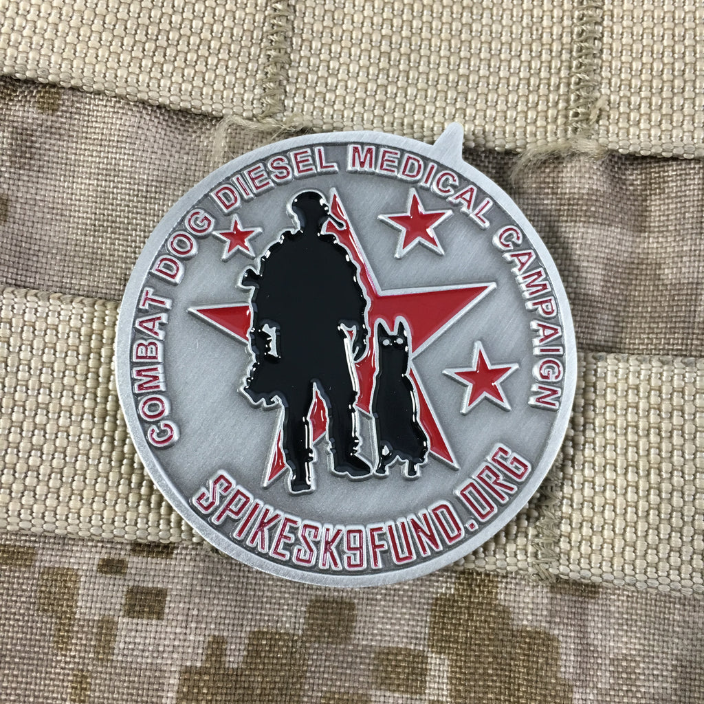 Combat Dog Diesel Medical Campaign Challenge Coin – Spike's