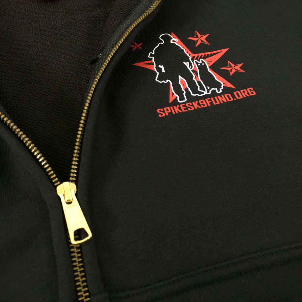 Spike's K9 Fund Heavyweight Zip Hoodie - Black