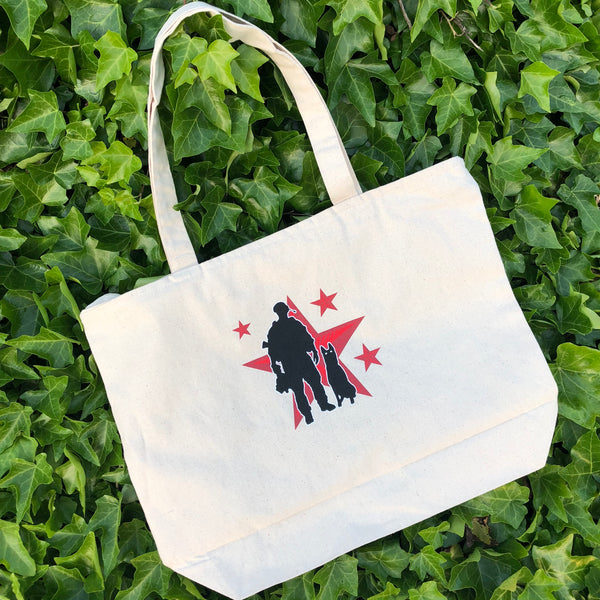 Spike's K9 Fund Logo Canvas Tote