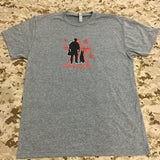 Spike's K9 Fund Original Logo Shirt - Grey