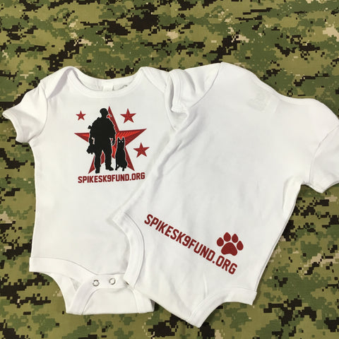 Spike's K9 Fund Original Logo Onesie