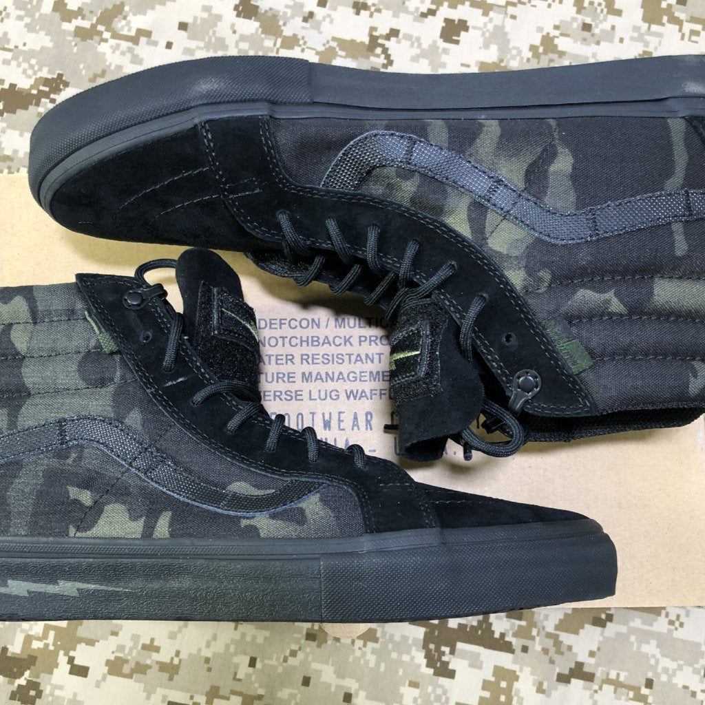 2ed32b617b DEFCON x Vans MultiCam Black Notchback Pro 9.5 M – Spike s K9 Fund