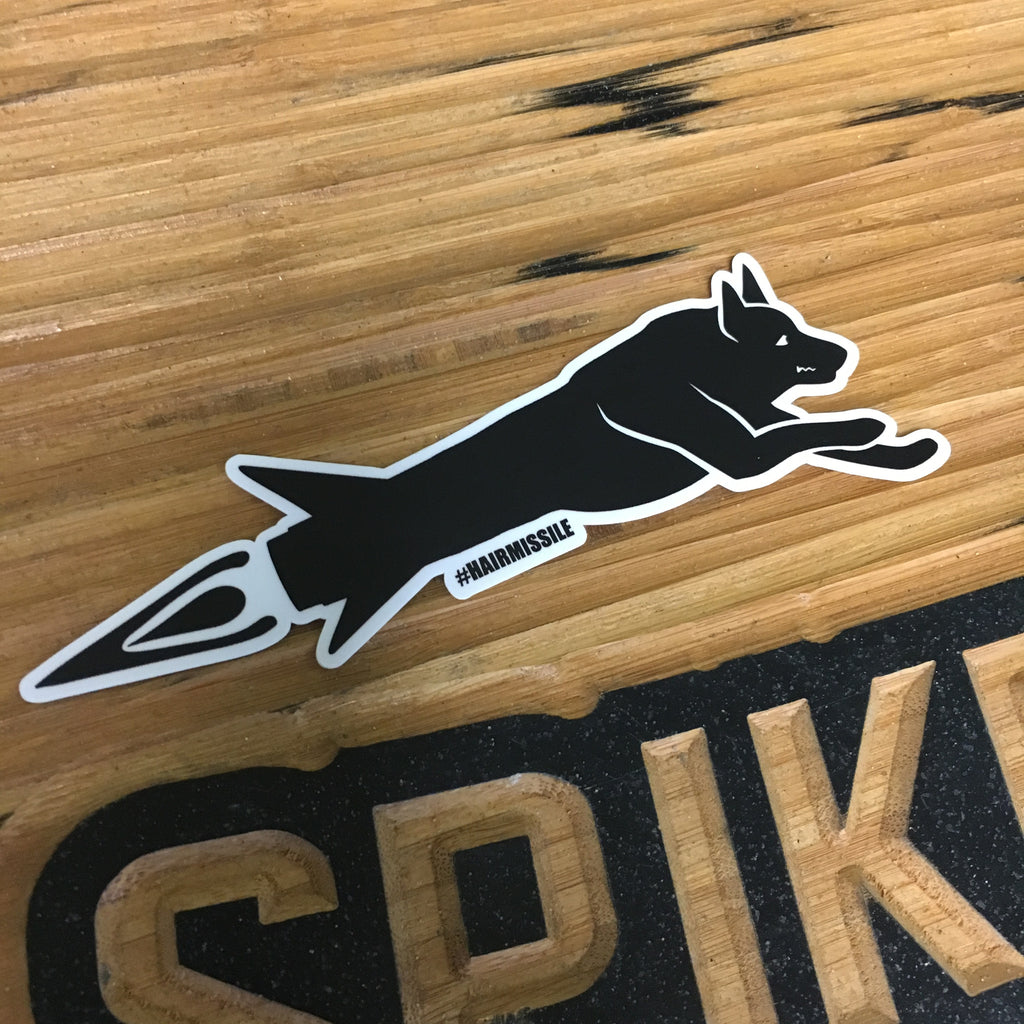 Spike's K9 Fund Hair Missile Sticker - Large