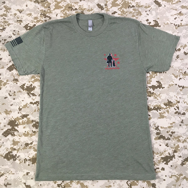 Spike's K9 Fund Logo Shirt - OD Green