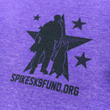 Spike's K9 Fund Logo Women's Shirt - Purple