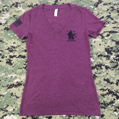 Spike's K9 Fund Logo Women's Shirt - Maroon