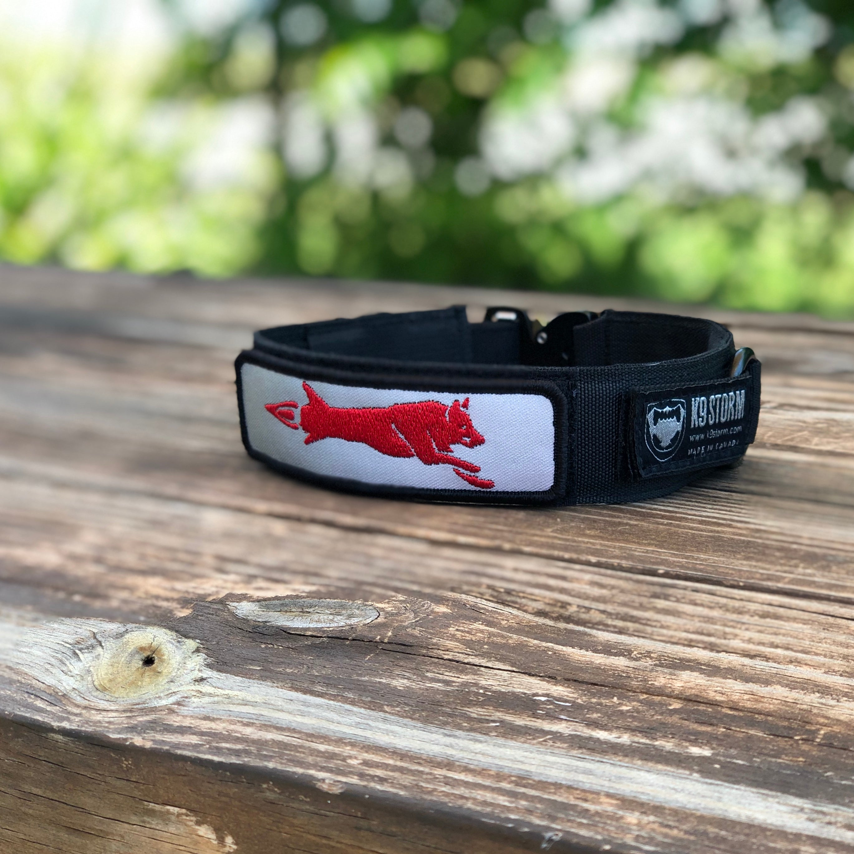 K9 Storm Dog Collar w/Hair Missile Patch