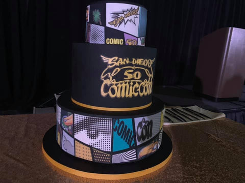 The cake from the SDCC 50th anniversary party!