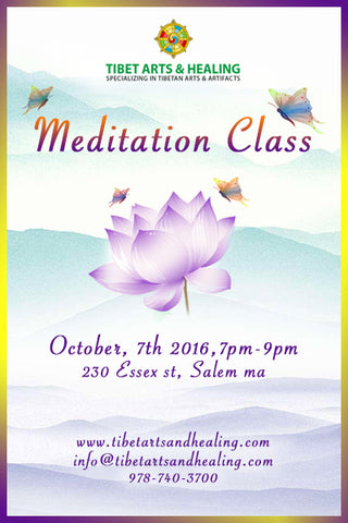 Meditation class Oct, 7th