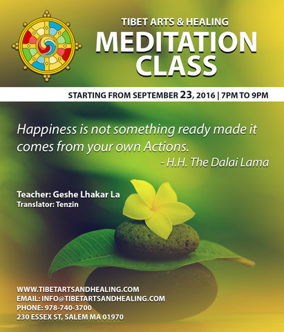 Meditation class Sept 23rd at 7pm